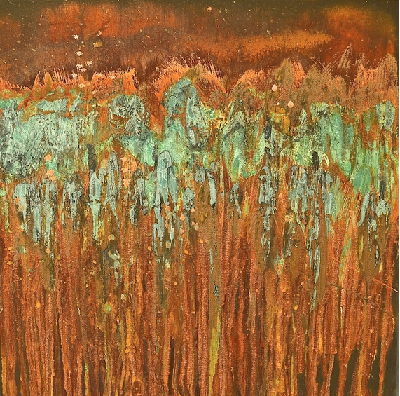 My Patch Of Blue Sky | Use Rust And Patinas To Create An Art Canvas Project