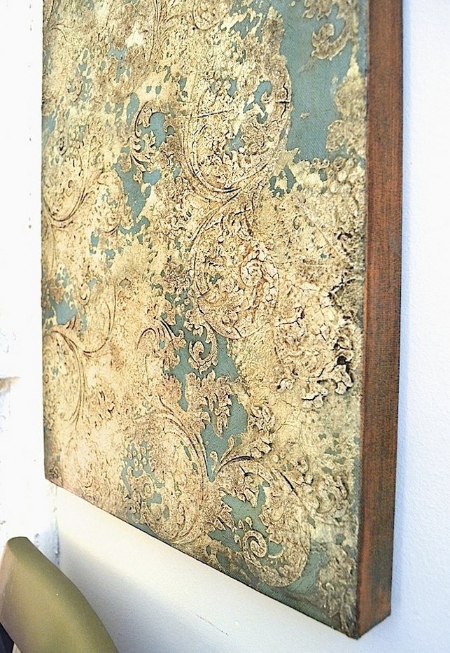 My Patch Of Blue Sky | How To Paint A Textured, Patterned Wall Art Canvas Using Artisan Enhancements Products
