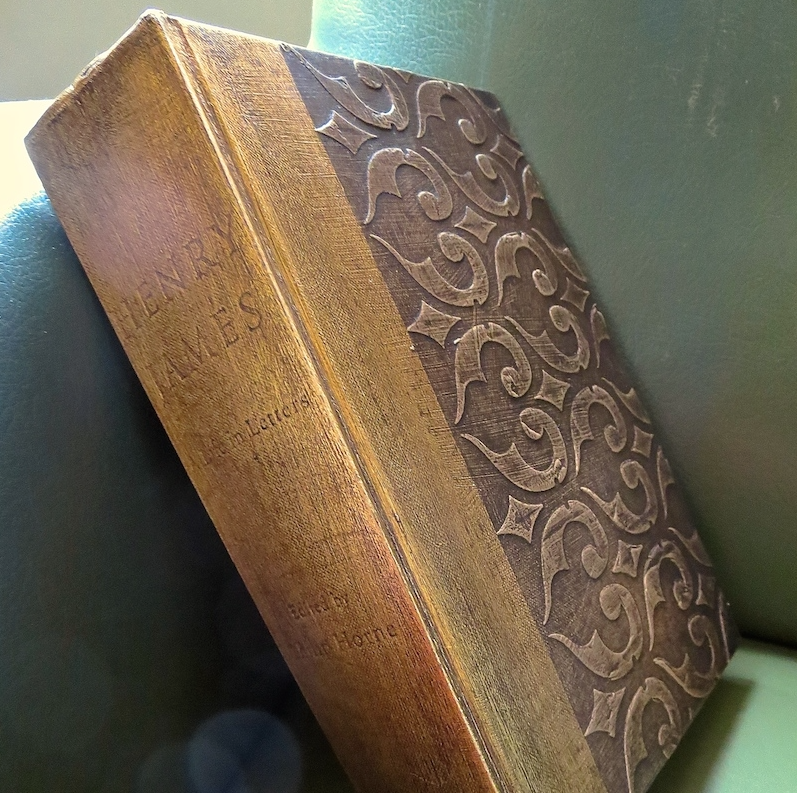 My Patch Of Blue Sky | Gild Old Books And Add A Raised Stencil Pattern