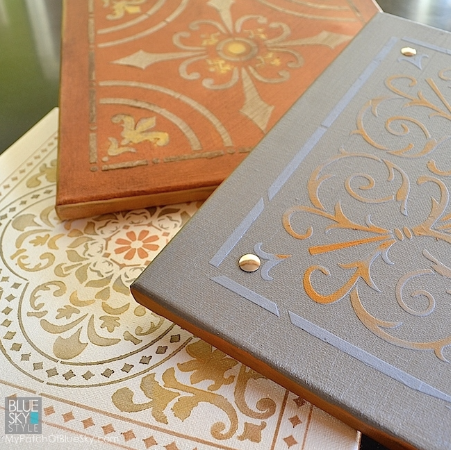 My Patch Of Blue Sky | How To Paint And Stencil Canvas Wall Art Using Fusion Mineral Paint Products