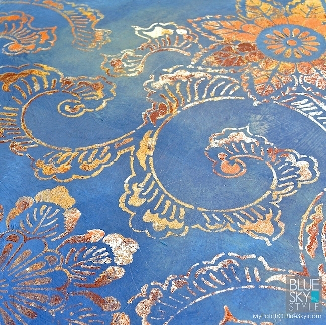 My Patch Of Blue Sky | How To Use Paint And Foils To Create This Wall Finish Using Artisan Enhancements Products