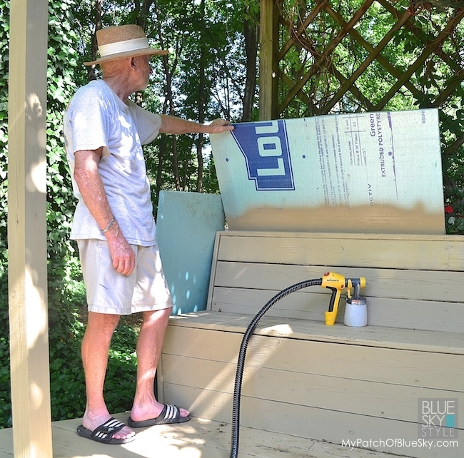 My Patch Of Blue Sky   How To Spray Your Deck In About An Hour Using A Wagner Sprayer