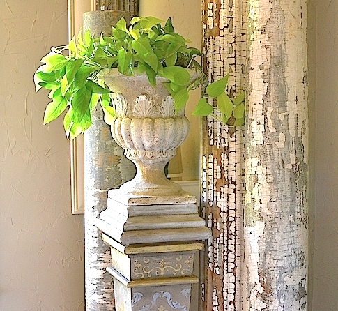 My Patch Of Blue Sky | How To Gild And Add Pattern To A Plant Stand Using Fusion Mineral Paint Products