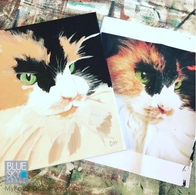 My Patch Of Blue Sky   How To Paint A Simple Pet Portrait Using Fusion Mineral Paint