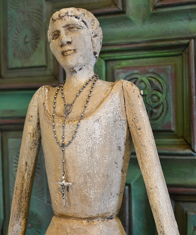 My Patch Of Blue Sky | How To Paint And Gild An Old Wood Statue