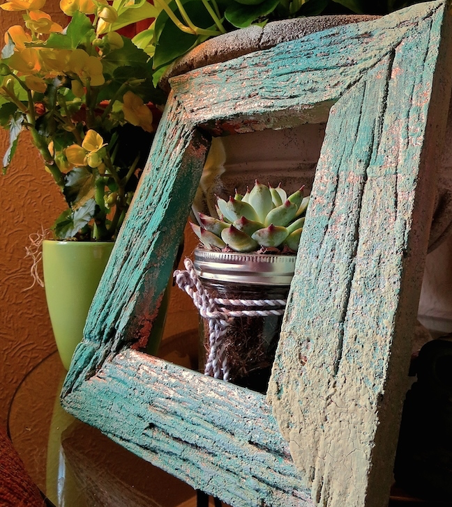 My Patch Of Blue Sky | How To Add Rustic Texture To A Wooden Frame