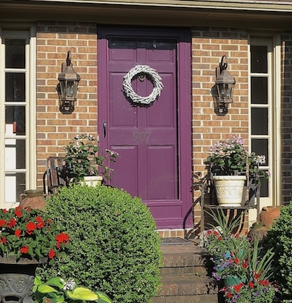 "My Patch Of Blue Sky | How To Paint Your Front Door With Modern Masters ""Playful"" Front Door Paint"