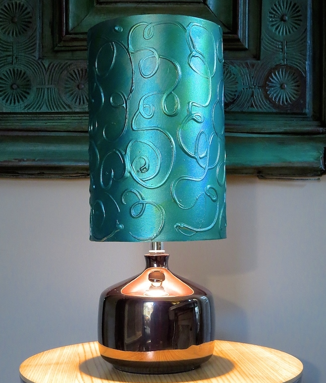 My Patch Of Blue Sky | Hand-Paint A Raised Pattern On A Lamp Shade