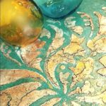 Gilded Damask art on canvas by Debbie Dion Hayes