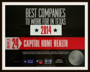 CHH Best Companies 2014 Award