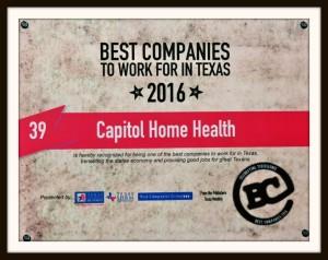 CHH Best Companies 2016 Award