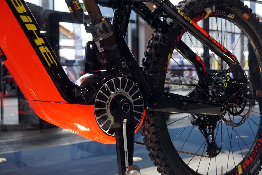 prototype 2019 Haibike Xduro 6 eMTB enduro mountain bike with new TQ 120S high power motor