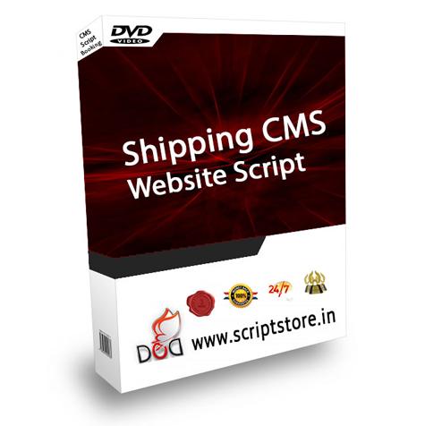 shipping cms website scipt