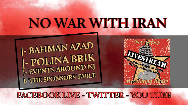 No War With Iran #NJRR Live