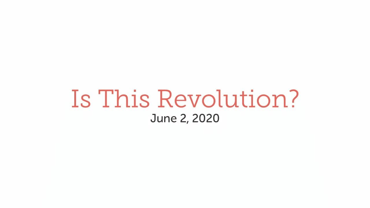 Is This Revolution