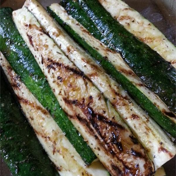 Grilled Balsamic Zucchini