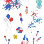 Watercolor 4th of July Pattern