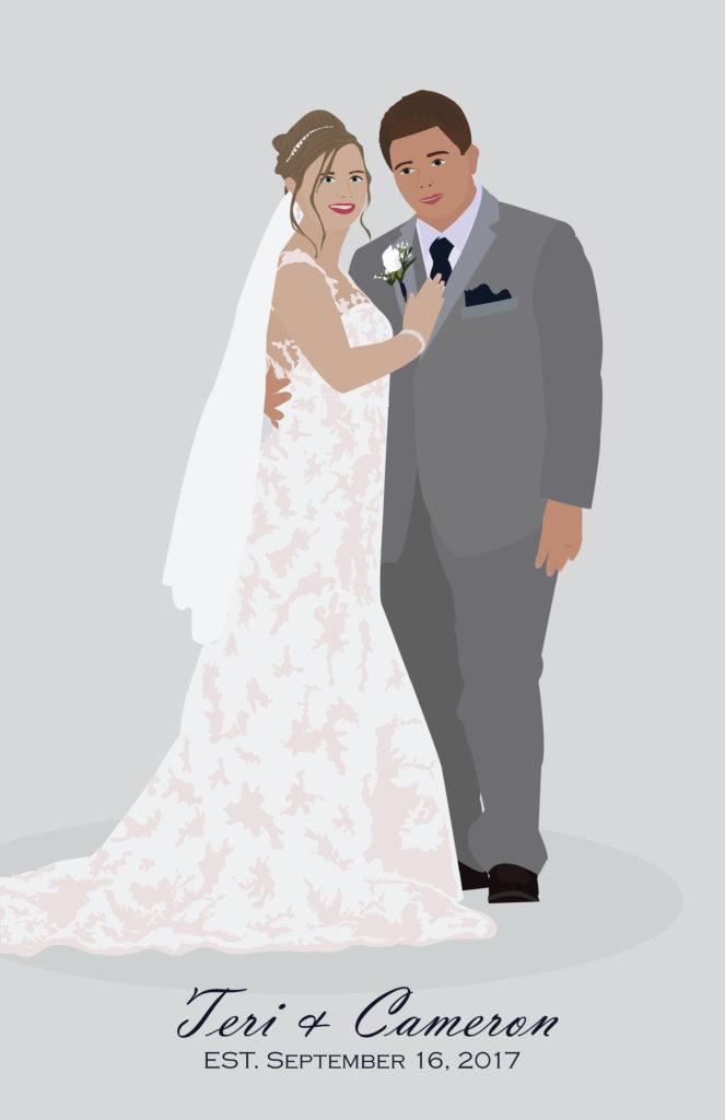 Wedding Portrait Illustration