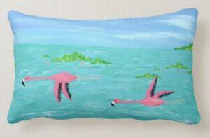 Flamingo Painting Pillow