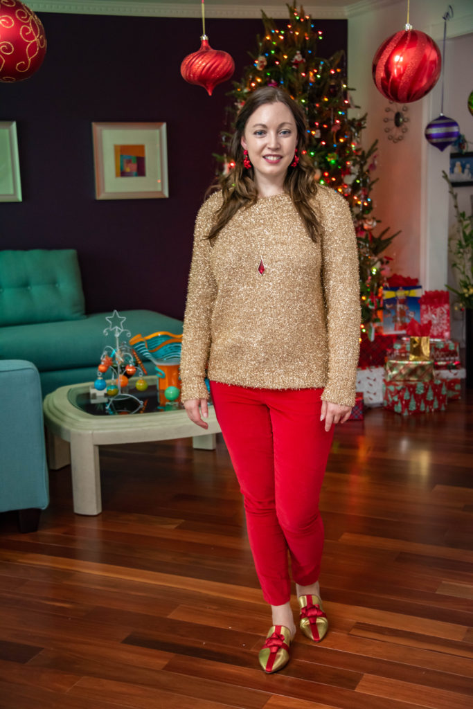 Gold and Red Christmas Fashion