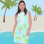 Lilly Pulitzer Portrait Illustration