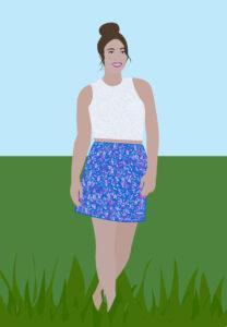 Patriotic Fashion Portrait Illustration