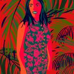 Color Block Tropical Illustration