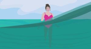 Underwater Ocean Digital Portrait