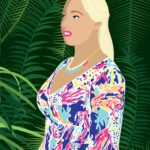 Lilly Pulitzer Tropical Jungle Digital Portrait