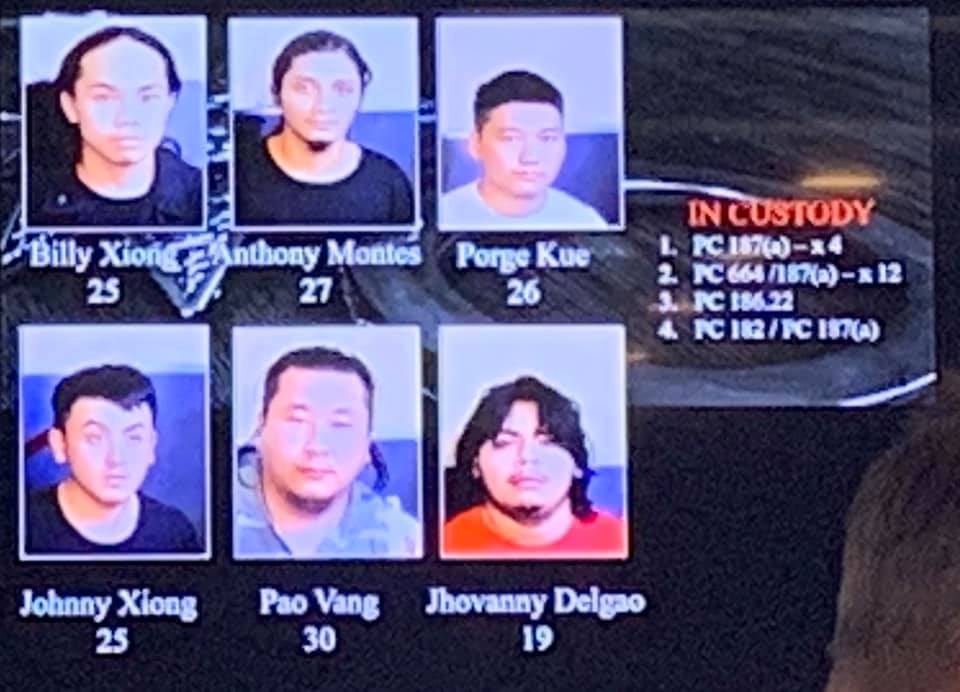 SIX PEOPLE ARRESTED FOR THE FRESNO MASS SHOOTING.