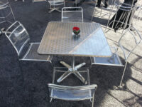 clear acrylic dining chair rental