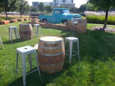 wine barrel no top rental