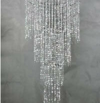 Straight Line Crystal Chandelier