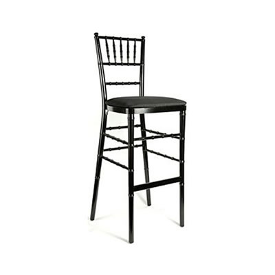 Black barstool bar stool bar height chiavari chair