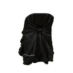 black satin lamour wrap folding chair cover