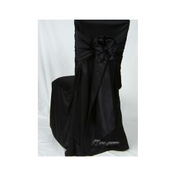 black wrinkle free square chair cover
