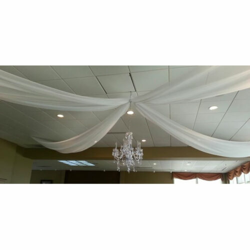 ceiling drape chandalier white special wedding event chicago 2