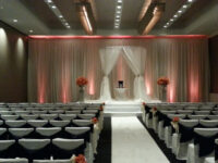 round chuppah huppah wedding reception canopy