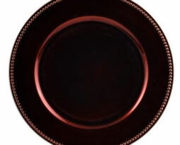 chocolate brown lacquer charger plate service plate rental chicago