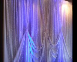crystal designed backdrop rental
