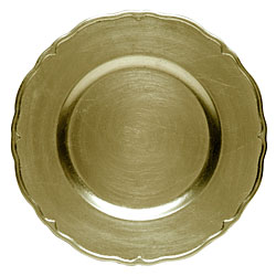 gold lacquer regency service charger plate