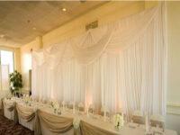 ivory designed wedding backdrop rental