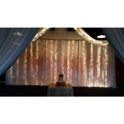 lighted ceiling drape white special wedding event chicago