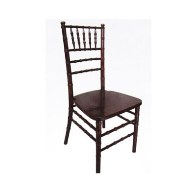 Chocolate brown chiavari chair rental chicago