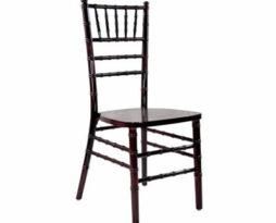 Mahogany chiavari chair rental chicago