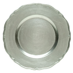 silver lacquer regency service charger plate