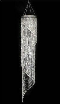 small spiral diamond chandelier