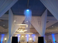 Ceiling drape drapery wedding