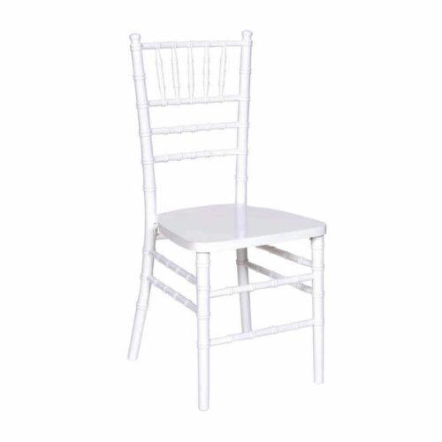 White Chiavair chair rental chicago