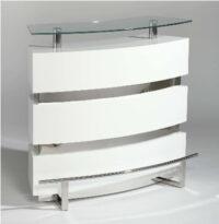 Modern modular white reflections bar